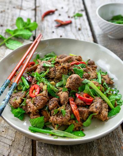 Szechuan/ Sichuan Salt & Pepper Pork Stir Fry