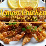 Chinese Style- Lemon Chicken