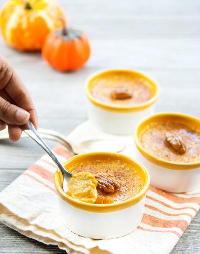 Instant Pot Pumpkin Spice Crème Brûlée