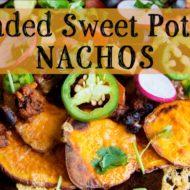 Sweet Potato Nachos With Bean Chili