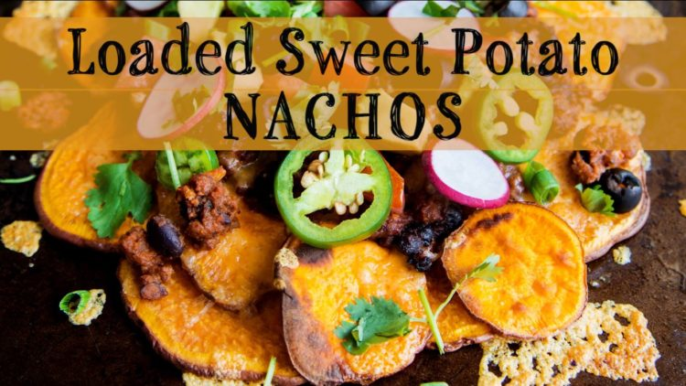 Sweet Potato Nachos With Bean Chili
