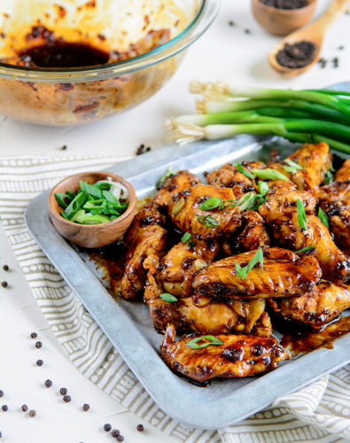 Black-Pepper Soy Chicken Wings
