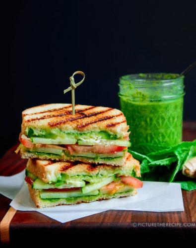 Bombay Grilled Chutney Sandwich