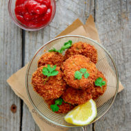 Indian Style Chicken Cutlets (Chicken & Sweet Potato Croquettes)