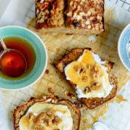 Banana Bread with Honey, Oats & Walnuts